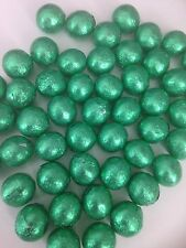 50 Green  Foil wrapped solid chocolate balls/wedding favours/ Valentine /sweets