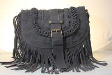 Hand made 100% Suede Leather Shoulder Bag, Sling Handbag