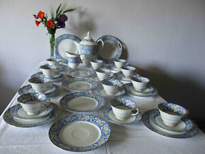Schumann Bavaria Kaffee Service 12 Pers. Art Deco Blumen