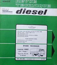 Revue technique DIESEL camion UNIC VOSGES Types P6 P8 P9  et dérivé RTA 34D 1968