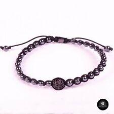 Kavak - Handmade Black Braided Adjustable Men's Bracelet Acerinas