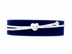 SWAROVSKI Rhodium Lifelong Heart Sparkle White Crystal Bangle Bracelet 5517944