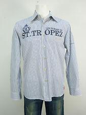 GAASTRA chemise t s/blanc rayé & ETAT NEUF (L 5964)