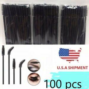 Disposable Eyelash Mascara Brushes Wands Applicator Makeup Brush Kit 100 pcs