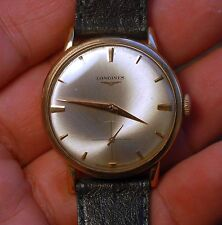 Vintage swiss made watch LONGINES 18kt gold cal.30L working condition,serviced