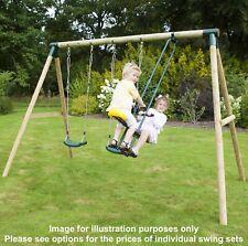 Rebo Kids Wooden Garden Swing Set Childrens Swings - 14 Styles & 3 Colours