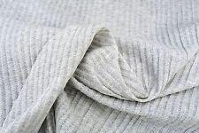 C120 100% cotone super sottili perla grigio melange Single Jersey Jacquard RIB