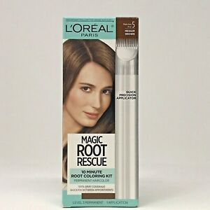 L'Oreal Paris Magic Root Rescue 10 Minute Root Hair Color Kit Matches Med Brown