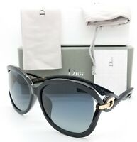 14109dcd8 NEW Dior sunglasses TWISTING D28 Black Grey AUTHENTIC Women's Butterfly  Fashion