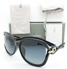 78814f2cf3 NEW Dior sunglasses TWISTING D28 Black Grey AUTHENTIC Women s Butterfly  Fashion
