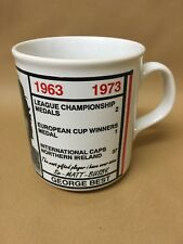 More details for rare george best manchester united mug / cup