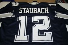 ROGER STAUBACH #12 QB SEWN STITCHED HOME JERSEY NAVY BLUE SIZE XLG HOF MVP