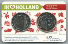 Holland coin fair coincard 2018 Ik hou van Holland tulpen BU €2 en penning
