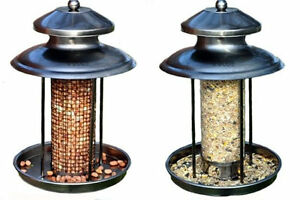 DELUXE STEEL HANGING LANTERN SHAPED WILD BIRD FEEDER SEED NUT FEEDER STATION