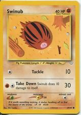 Pokemon Neo Revelation Common Card #57/64 Swinub