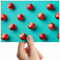 """Red Apples Juicy Healthy Small Photograph 6"""" x 4"""" Art Print Photo Gift #3047"""
