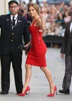 Preen Red Power Cut out Bodycon Dress M Seen on Jennifer Lopez JLo NWT $1400