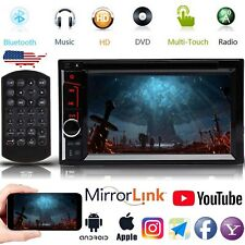 Car Stereo Mirrorlink GPS Bluetooth Radio Double 2 Din 6.2