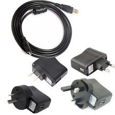 USB Adaptador De Alimentación AC Cargador De Batería + Cable USB para Cámara Panasonic DMC-TZ60 S