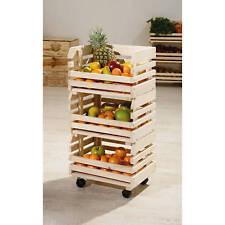 Küchenwagen Stapelkiste Aufbewahrungsbox Küche Keller Vorratsraum Rollen klein