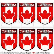 """CANADA Canadian Shield 40mm (1.6"""") Mobile Cell Phone Mini Stickers-Decals x6"""