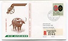 FFC 1971 Air Afrique First Direct Flight Geneve Libreville Gabon REGISTERED