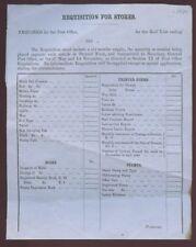 Australia 1859 Po Requisition Ink Pens Stamps Supplies