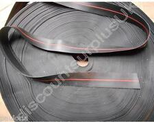 Solid Rubber Strip - 1.0mm x 37mm Wide * 1m Length - Red Alignment Ridge