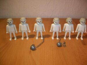 Playmobil 3317 Geist Geister Gespenst 6 Figuren mit 2 Fußketten Rasselkette