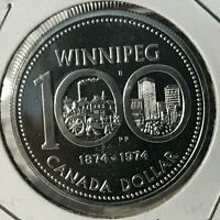 1974 CANADA  SILVER DOLLAR WINNIPEG BRILLIANT UNCIRCULATED CROWN