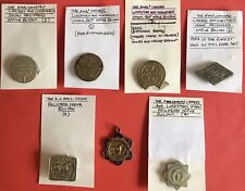 More details for a very rare set of bolton carters lurrymen & motor mens union badges + medallion