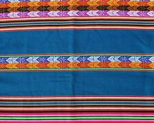 Peru Tischdecke Wandbehang blau+bunt 120x220 cm, Inka Tragetuch Manta extra groß