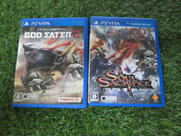 Used Playstation VITA  God eater 2 and Soul Sacrifice From Japan