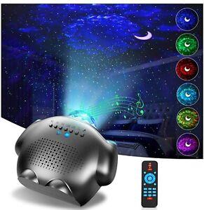 LED Star Projector, GRDE Night Light,4 in 1, Galaxy Ocean Wave Bluetooth Speaker