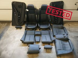✅✅✅GENUINE BMW 6 SERIES E63 INTERIOR SPORT LEATHER SEATS WITH HEATING SET 1