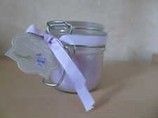 New Lavender Coloured Lavender Scented Jar Candle Clip Top Perserve Glass Jar
