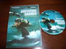 Discovery Channel presents SURVIVING SHARKS featuring LES STROUD (DVD,2008,WS)