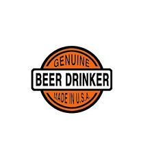 Sticker pour casque moto Guenuine beer drinker helmet custom trike biker chopper