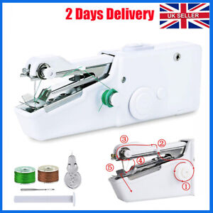 Mini Handheld Cordless Sewing Machine Hand Held Stitch Home Clothes Portable UK