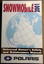 2001 POLARIS SNOWMOBILE UNIVERSAL OWNERS/MAINTENANCE  MANUAL NEW   (938)
