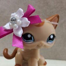 RARE Littlest Pet Shop LPS Toy #1024 Tan Swirl Shorthair Kitty Cat SHIPS FREE
