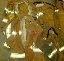 Lot of 5 Various Size Globe Firefighter Turnout Gear Jackets Coat With No Liners