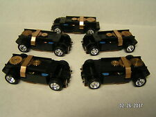 5 NEW T-Dash Tjet Slot Car Chassis w/Custom Chrome Wheels/Tires
