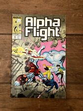 Alpha Flight Marvel Comic Book #61 1988 VF