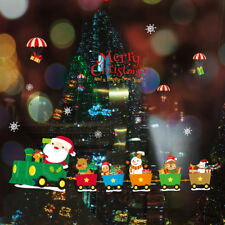 wall sticker stickers window merry christmas xmas new year santa claus trainTB