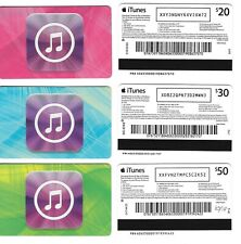 FOR COLLECTION ONLY - 3 x USED Australia APPLE iTunes gift cards set , NO CREDIT