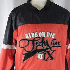 TechNine Ride Or Die Snowboard Pullover Jacket Red Black XLT