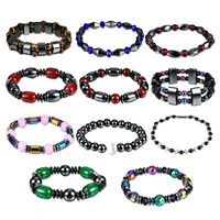 Women Men Weight Loss Hematite Stone Magnetic Therapy Bracelet Health Care Gifts