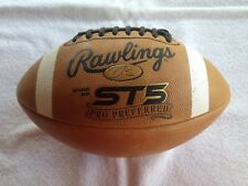 Rawlings Soft Touch St5 Gold Leather Football New Bladder, Ships Aired Up