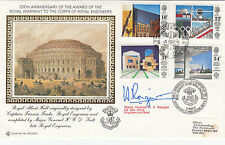 RE 200th Anniv with  Full set  4 British Architects in Europe Stamp Signed Major